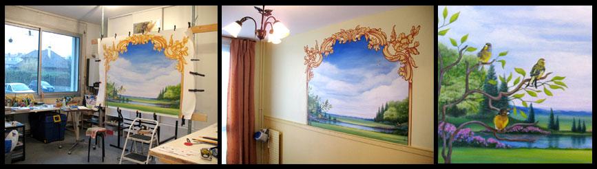trompe l oeil mural interieur excellent image results for trompe luoeil mural interieur with. Black Bedroom Furniture Sets. Home Design Ideas